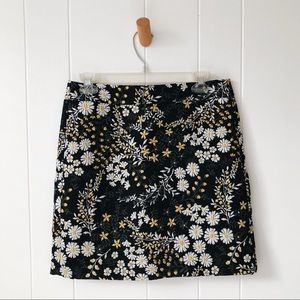 Loft Floral Mini Skirt
